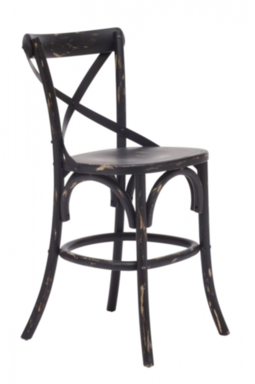 Union Square Counter Chair - Antique Black