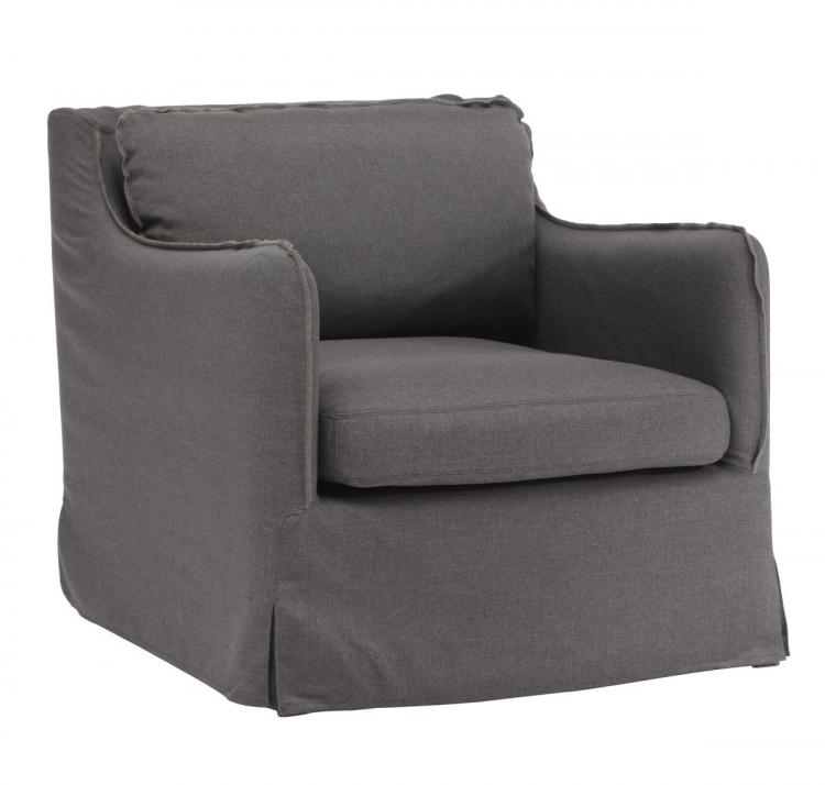 Pacific Heights Arm Chair - Charcoal Gray