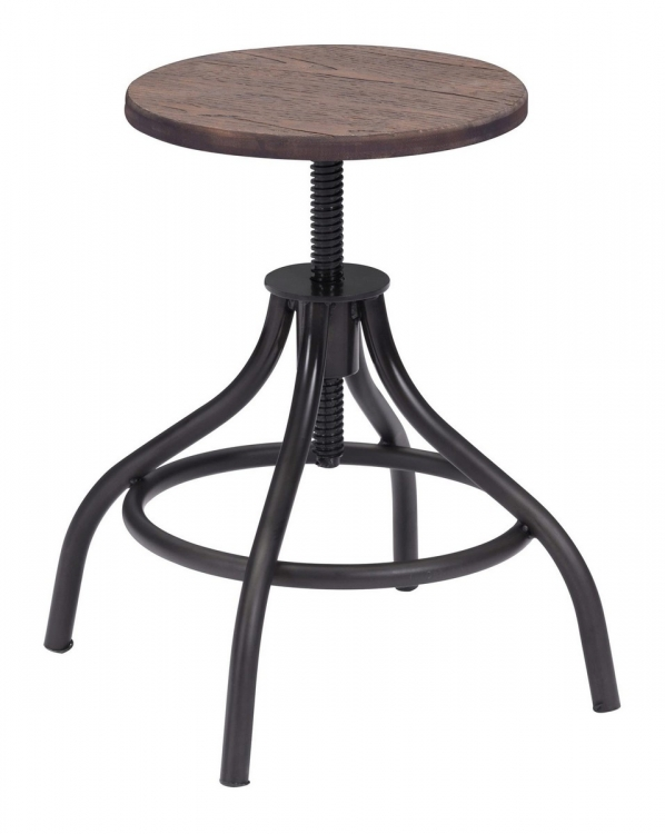 Plato Stool - Rustic Wood