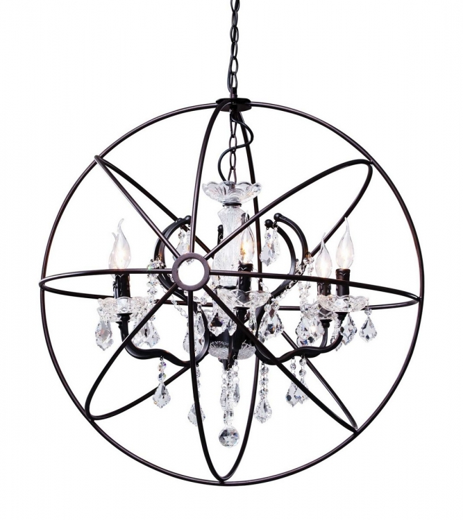 Diamond Ceiling Lamp - Distressed Black