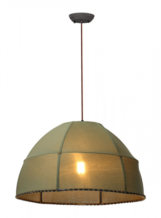 Marble Ceiling Lamp - Pea Green