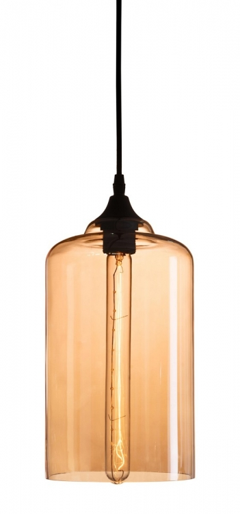 Bismite Ceiling Lamp - Black/Amber