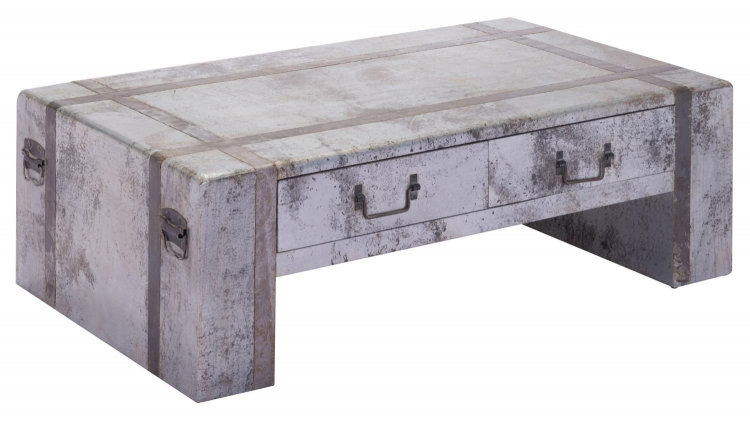 Frege Coffee Table - Distressed Tin