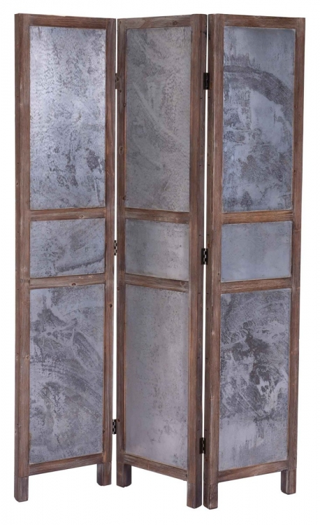 Strauss Wall Divider - Distressed Tin