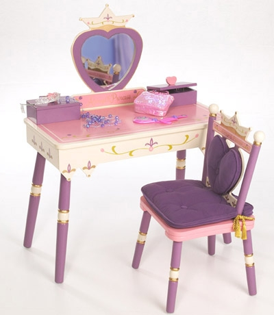 Princess Vanity Table & Chair Set-Levels of Discovery