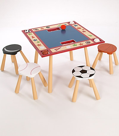 All Star Sports Table & 4 Stool Set-Levels of Discovery