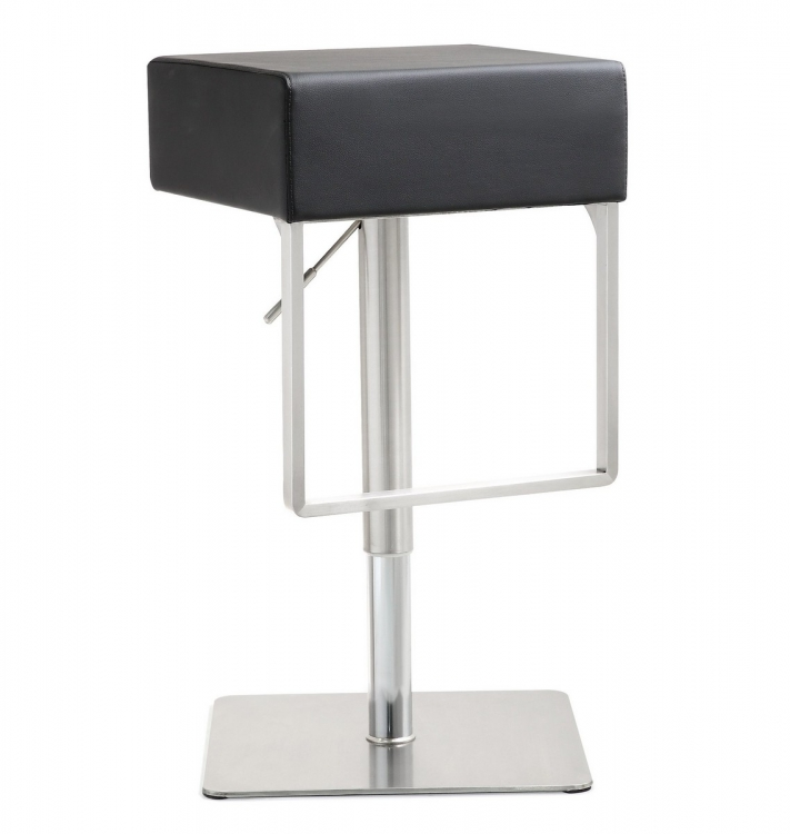 Seville Black Stainless Steel Barstool