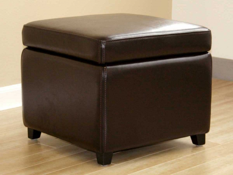 Y-162 Leather Ottoman - Wholesale Interiors