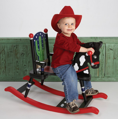 Levels of Discovery Cowboy Rocking Horse