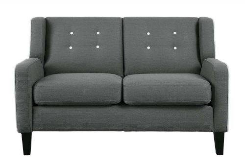 Roweena Love Seat - Dark Gray