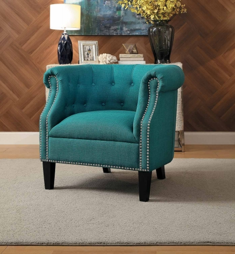 Karlock Accent Chair - Teal