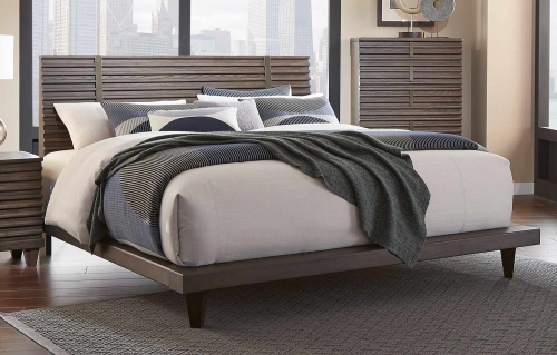 Ridgewood Platform Bed - Rustic Burnished Oak