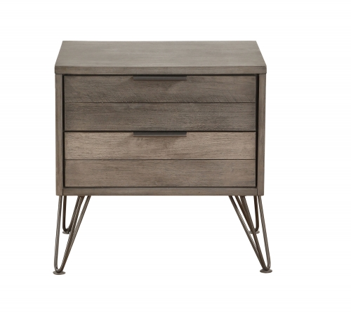 Urbanite Night Stand - Brown-Gray