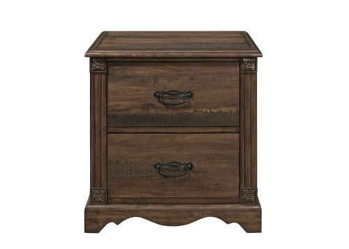 Beaver Creek Night Stand - Rustic Brown
