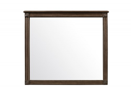 Homelegance Beaver Creek Mirror - Rustic Brown