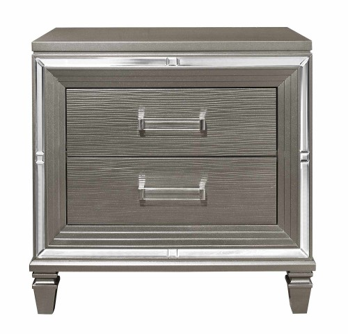 Tamsin Night Stand - Silver-Gray Metallic