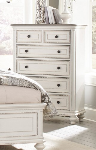 Homelegance Baylesford Chest - Antique White Rub-Through Finish