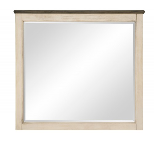 Weaver Mirror - Antique White