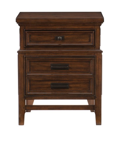 Frazier Park Night Stand - Brown Cherry