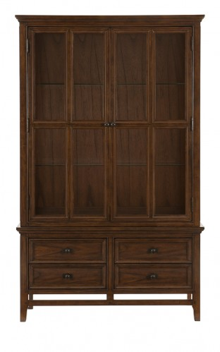 Frazier China Cabinet - Brown Cherry