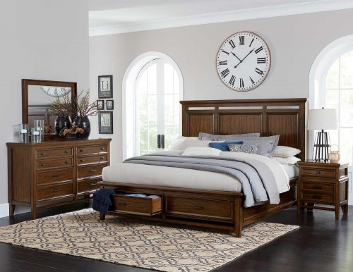 Frazier Park Bedroom Set - Brown Cherry