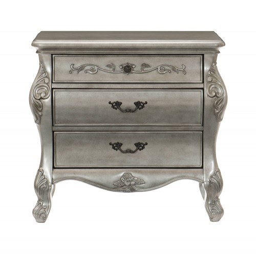 Brigette Night Stand - Silver-Gray
