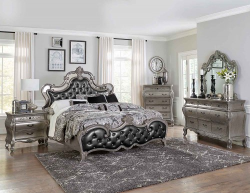 Brigette Bedroom Set - Silver-Gray