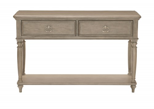 Grayling Down Sofa Table with Two Functional Drawers - Driftwood Gray
