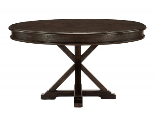 Cardano Round Dining Table - Driftwood Charcoal