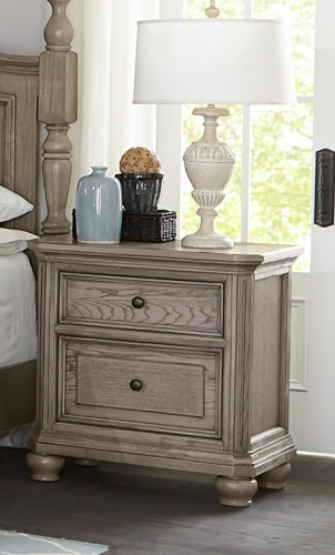 Lavonia Night Stand - Wire-Brushed