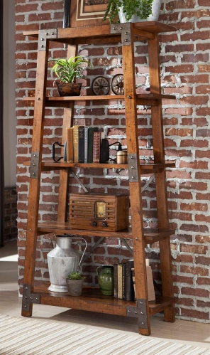 Homelegance Holverson Bookcase - Rustic Brown Milk Crate