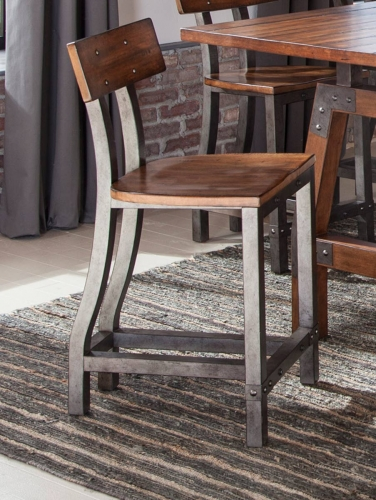 Homelegance Holverson Counter Height Chair - Rustic Brown