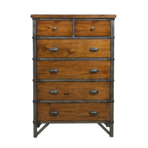 Homelegance Holverson Chest - Rustic Brown Milk Crate Finish