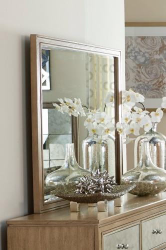 Homelegance Kalette Mirror - Light Oak