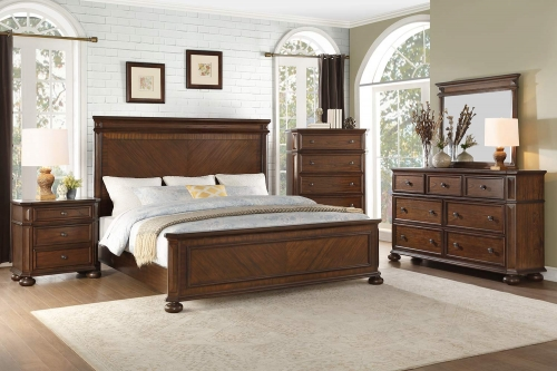 Langsat Panel Bedroom Set - Brown