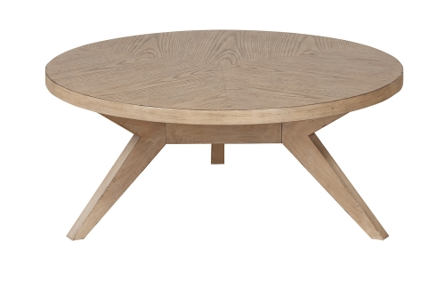 Homelegance Liatris Round Cocktail/Coffee Table - Natural Gray