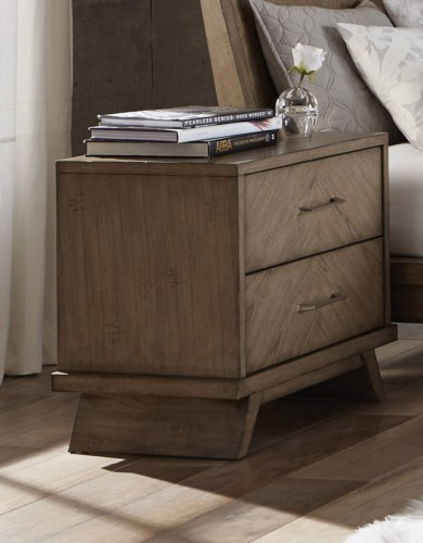 Liatris Night Stand - Acacia Veneer with Gray Undertone