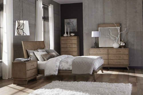 Liatris Bedroom Set - Acacia Veneer with Gray Undertone