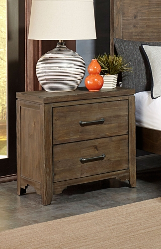 Lyer Night Stand - Rustic Brown