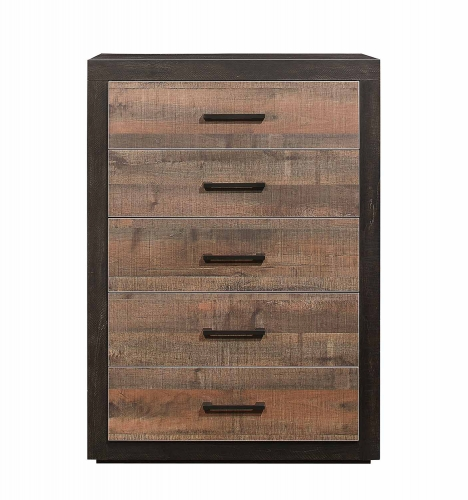 Homelegance Miter Chest - Mahogany & Ebony