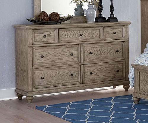 Barbour Dresser - Whitewash Finish over Oak Veneers