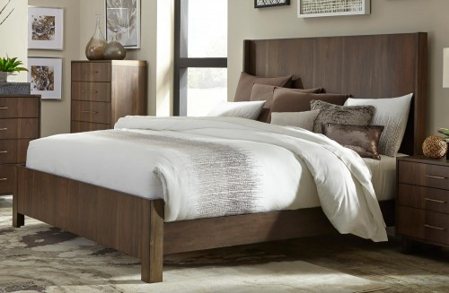Gulfton Bed - Walnut