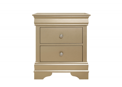 Homelegance Abbeville Night Stand - Gold