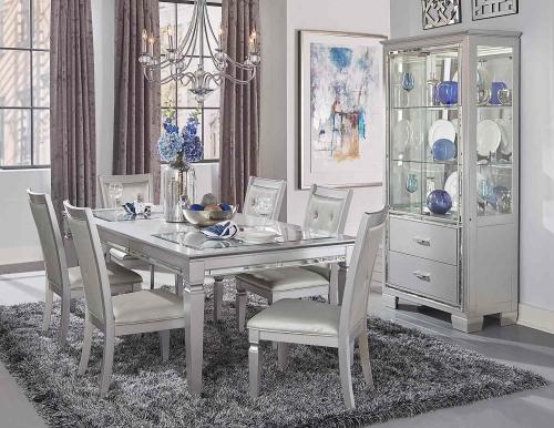 Homelegance Allura Dining Set - Silver
