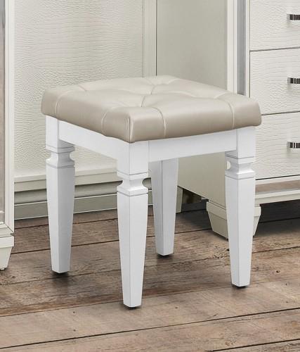 Allura Vanity Stool - White