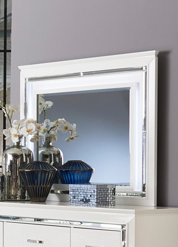 Allura Mirror with LED Lighting - White