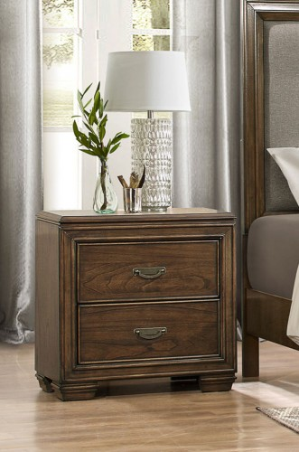 Leavitt Night Stand - Brown Cherry
