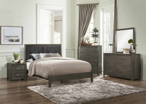 Edina Bedroom Set - Brown-Gray