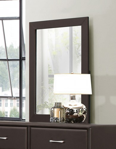 Lorenzi Mirror - Dark Brown Vinyl