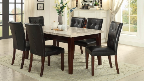 Decatur Dining Set - Espresso - Dark Brown Bi-Cast Vinyl